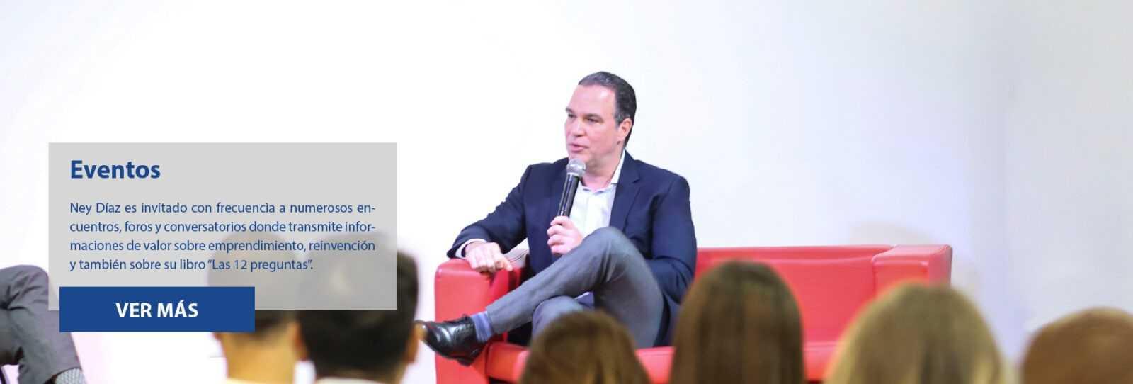 Ney Díaz en distintos encuentros, foros y conversatorios.